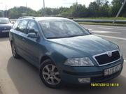 Шкода Октавия,  1, 6 mpi, 2006г,  газ-бензин, сине-зеленый мет.,