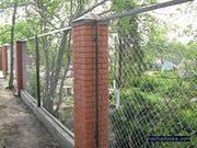 Секции заборные из металлических прутьев и из сетки