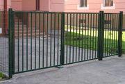 садовые металлические ворота